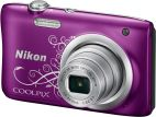 Фотоаппарат Nikon Coolpix A100 Purple Lineart